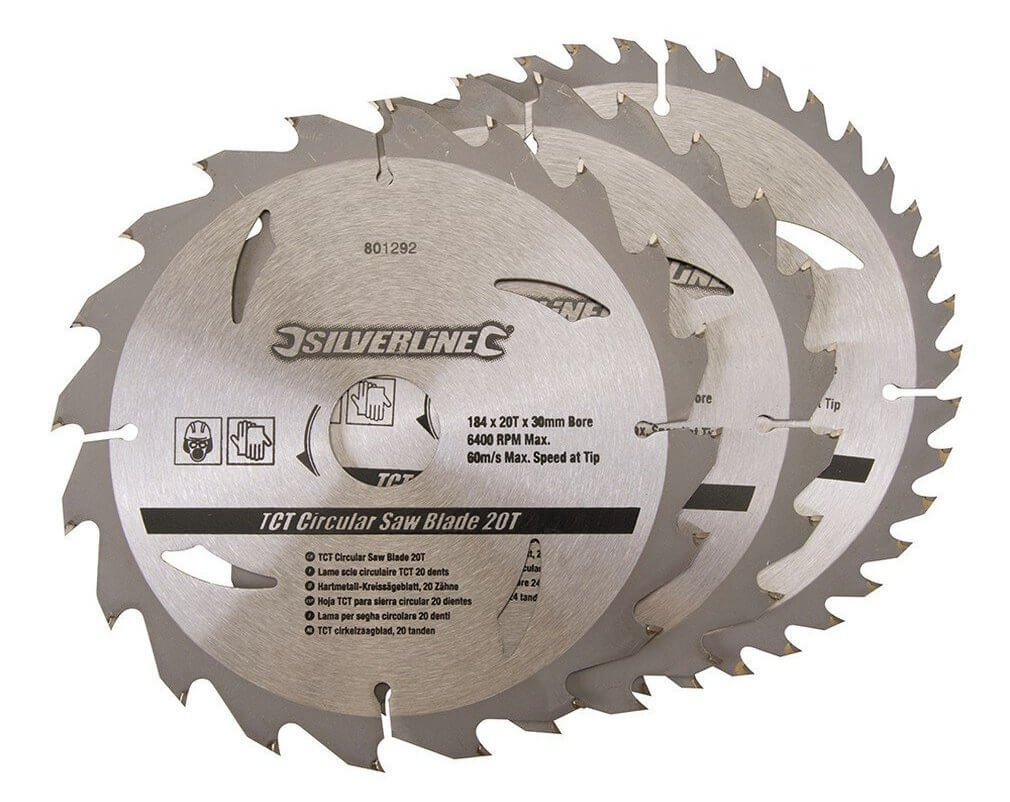 lame de scie circulaire carbure de tungstène Silverline 801292 pas chère