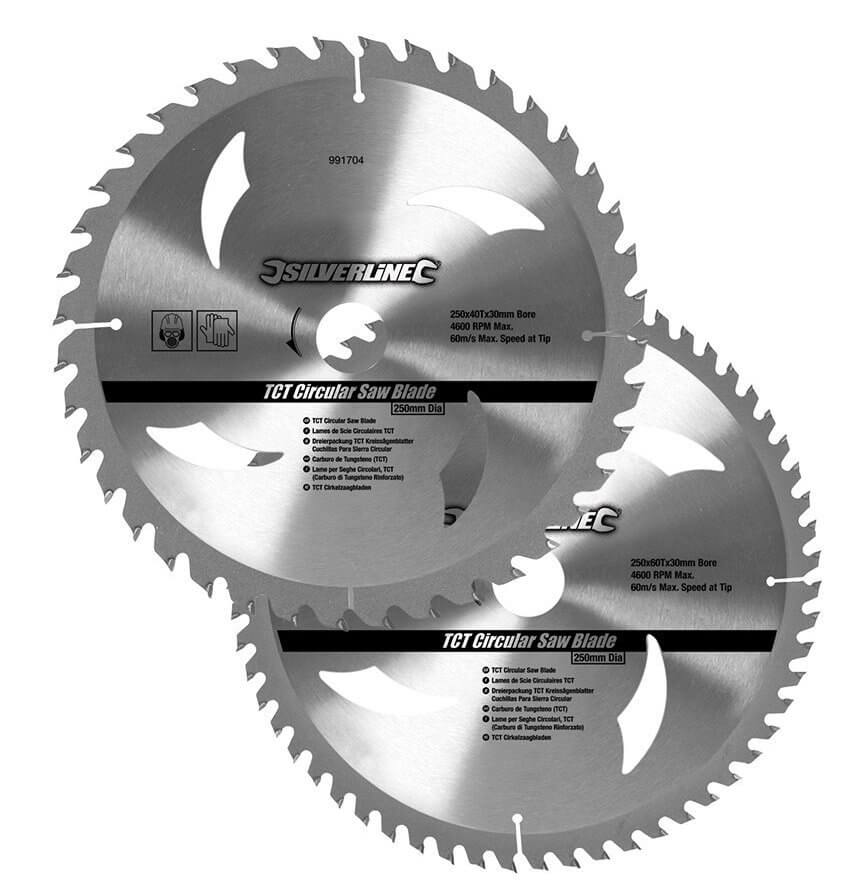 lame de scie circulaire Carbure de Tungstène Silverline 991704 pas chère